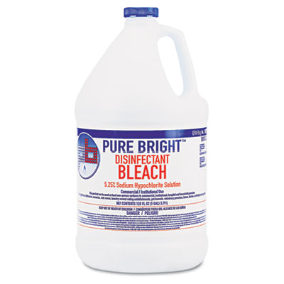 Pure Bright Liquid Bleach, 1 Gallon Bottle