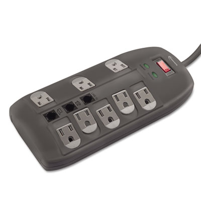 Innovera Surge Protector, 8 Outlets, 6ft Cord, Tel/DSL,