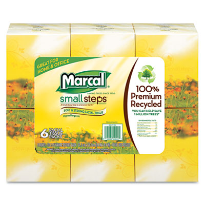 Marcal PRO Recycled White Facial Tissue in Fluff-Out