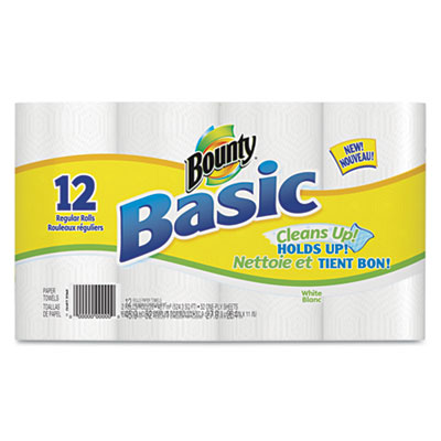 Bounty Basic Paper Towels, 11 x 11, White