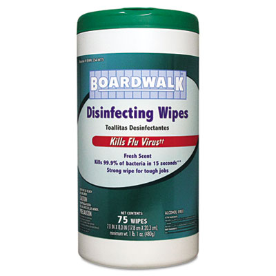 Boardwalk Disinfecting Wipes, 8 x 7, Fresh Scent,