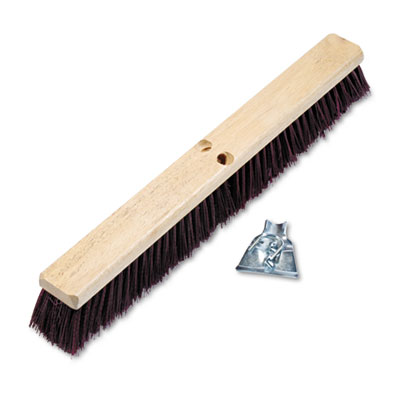 "Boardwalk Floor Brush Head, 3 1/4"" Maroon Stiff"