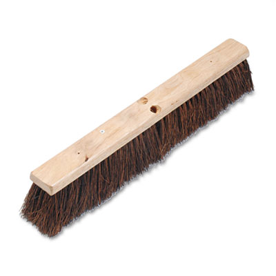 "Boardwalk Floor Brush Head, 3 1/4"" Natural Palmyra Fiber,"