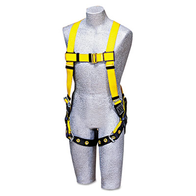 DBI-SALA Full-Body Harness, Tongue Buckles, Back D-Ring,