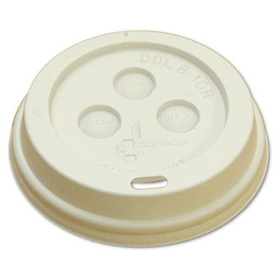 Boardwalk Hot Cup Dome Lids, 8oz, White