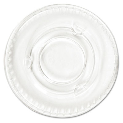 Boardwalk Portion Cup Lids, Fits .5-1oz Cups, Clear