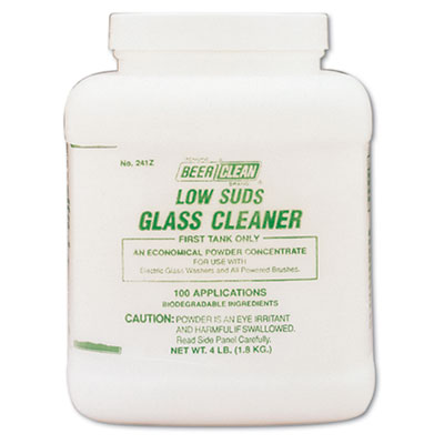 Diversey Beer Clean Glass Cleaner, Unscented, Powder, 4