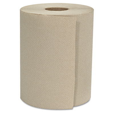 "GEN Hardwound Roll Towels, 1-Ply, Natural, 8"" x 500ft"