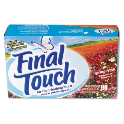 Final Touch Dryer Sheets, Spring Fresh