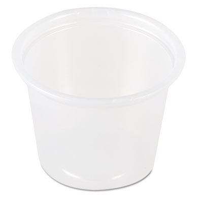 SOLO Cup Company Plastic Souffl Portion Cups, 1 1/2