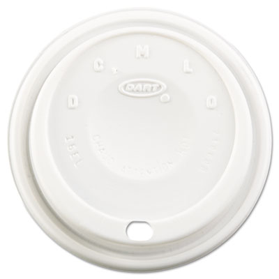 Dart Cappuccino Dome Sipper Lids, Fits 12-24oz Cups, White