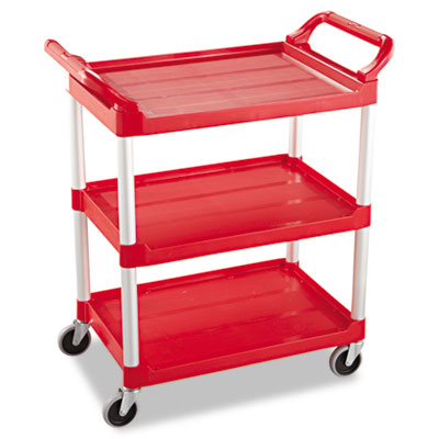 Rubbermaid Commercial 3-Shelf Service Cart, 200-lb Cap., 18