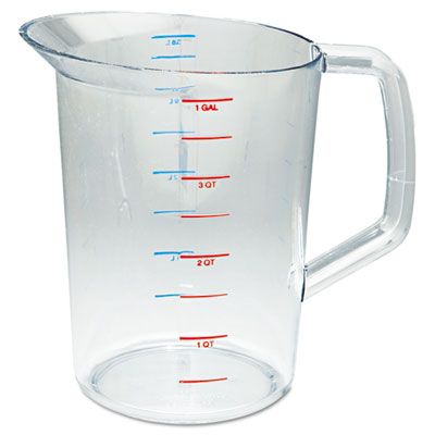 Rubbermaid Commercial Bouncer Measuring Cup, 4qt, Clear