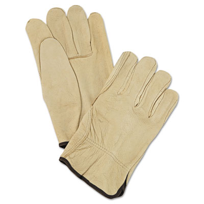Memphis Unlined Pigskin Driver Gloves, Cream, Large