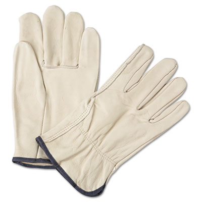 Anchor Brand 4000 Series Leather Driver Gloves, White,