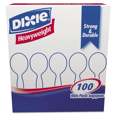 Dixie Plastic Cutlery, Heavyweight Soup Spoons,