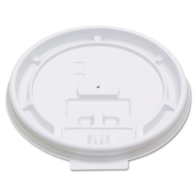 Boardwalk Hot Cup Tear-Tab Lids, 8oz, White