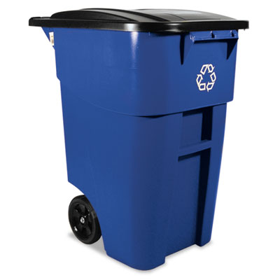 Rubbermaid Commercial Brute Recycling Rollout Container,