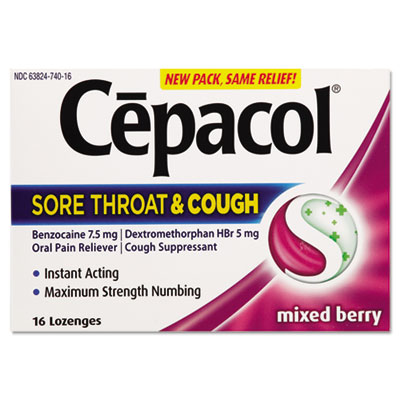 Cepacol Sore Throat and Cough Lozenges, Mixed Berry