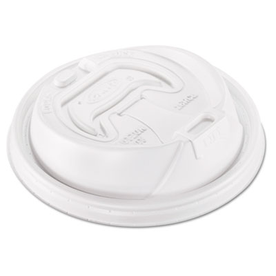 Dart Optima Hot Cup Lids, Fits 12-24oz Cups, White
