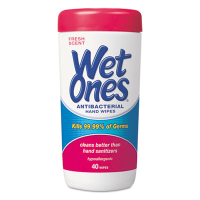 Wet Ones Antibacterial Moist Towelettes, 5 x 7 1/2, White