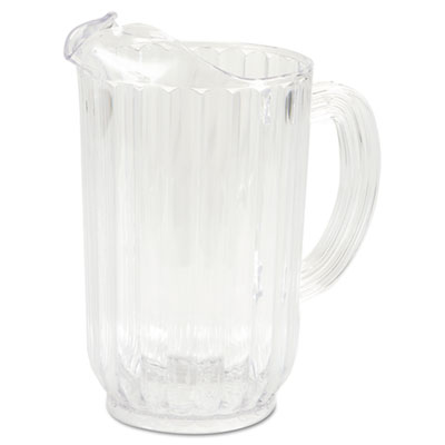 Rubbermaid Commercial Bouncer Plastic Pitcher, 72 oz, Clear