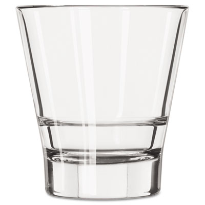 Libbey Endeavor Rocks Glasses, 12 oz, Clear, Double