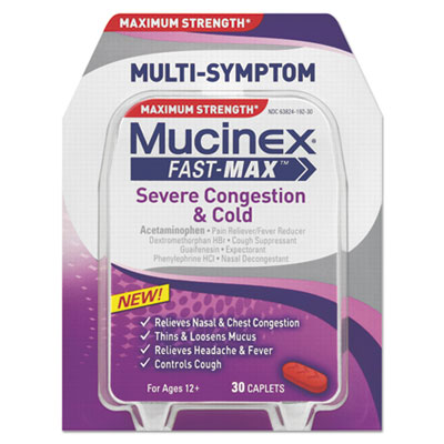 Mucinex Fast-Max Severe Congestion & Cold Caplet