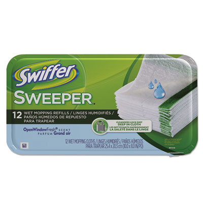 Swiffer Wet Refill System, Cloth, White