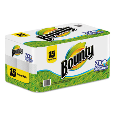 Bounty Perforated Paper Towels, 9 x 10.4, White
