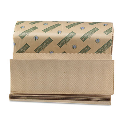 Boardwalk Green Folded Towels, Multi-Fold, Natural,