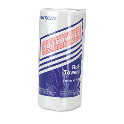 Boardwalk Paper Towel Rolls, Perforated, 2-Ply, White