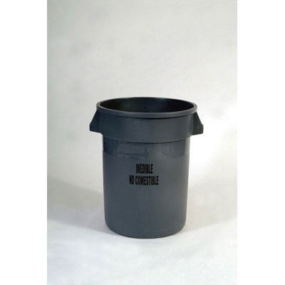 Rubbermaid Commercial Brute Refuse Container W/Imprint,