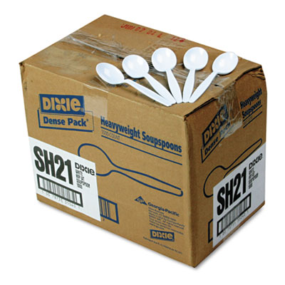 Dixie Plastic Tableware, Heavyweight Soup Spoons, White