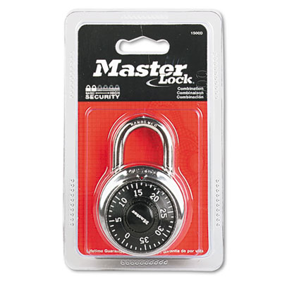 "Master Lock Combination Lock, Stainless Steel, 1-7/8"" Wide,"