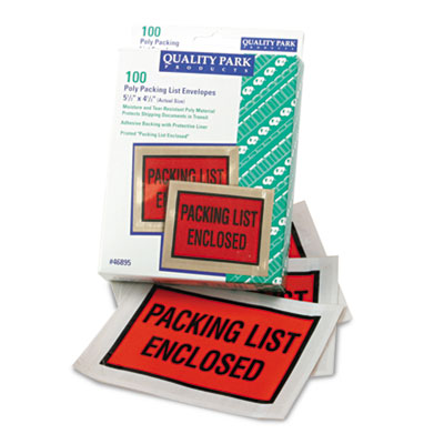 Quality Park Full-Print Self-Adhesive Packing List