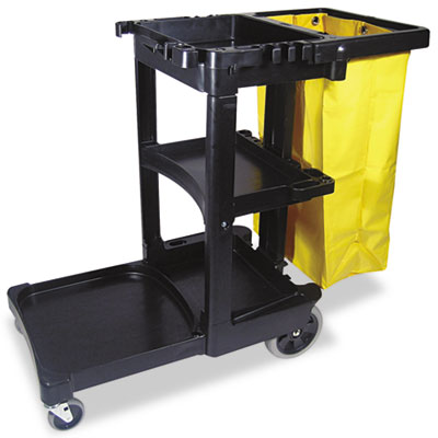 Rubbermaid Commercial Multi-Shelf Cleaning Cart,