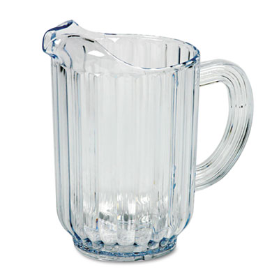 Rubbermaid Commercial Bouncer Plastic Pitcher, 60-oz, Clear