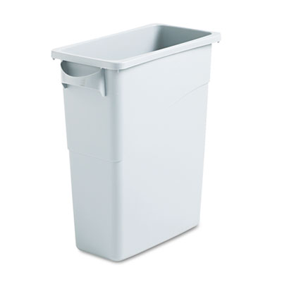 Rubbermaid Commercial SlimJim Waste Container, Handles,