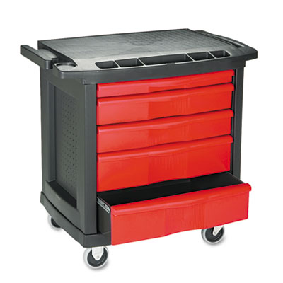 Rubbermaid Commercial Five-Drawer Mobile
