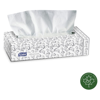 Tork Advanced Extra Soft, 2-Ply Facial Tissue, White