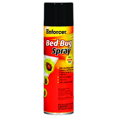 Enforcer Bed Bug Spray, 14 oz Aerosol, For Bed Bugs/Dust