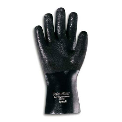 AnsellPro Petroflex Jersey Lined PVC Gloves, Large