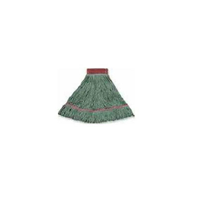 Boardwalk Wideband Looped-End Mop Heads, Large, Green