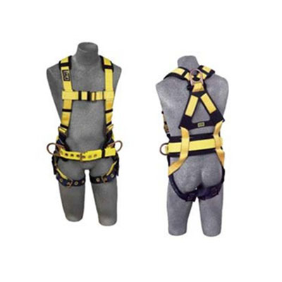 DBI-SALA Full-Body Harness, Tongue Buckles, Side/Back
