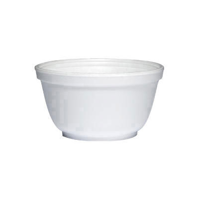 Dart Foam Bowls, 10 Ounces, White, Round