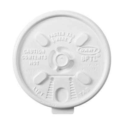 Dart Lift n' Lock Plastic Hot Cup Lids, Fits 6-10oz Cups,