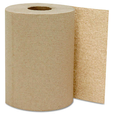 GEN Hardwound Roll Towels, Kraft, 8 x 300'