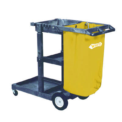 Impact Janitorial Cart, 3 Shelves, 20 1/2w x 48d x 38h,