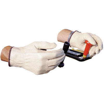 Impact Unlined Grain-Leather Drivers' Gloves, Large, Cream